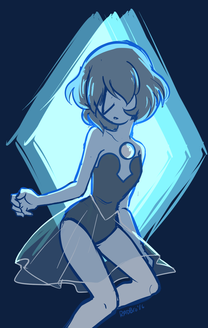 Just a really quick doodle of the Blue Pearl we saw, cuz she was so sad and pretty. I'm so tempted to make my own Pearl, ugh