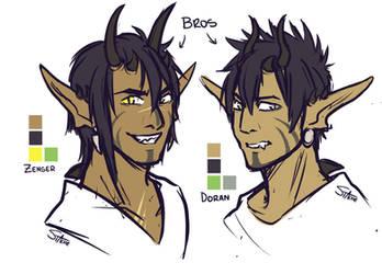 OC: Dragon bros by Mad-Mustache