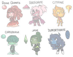 [CLOSED] Gem Adopts I by Mad-Mustache