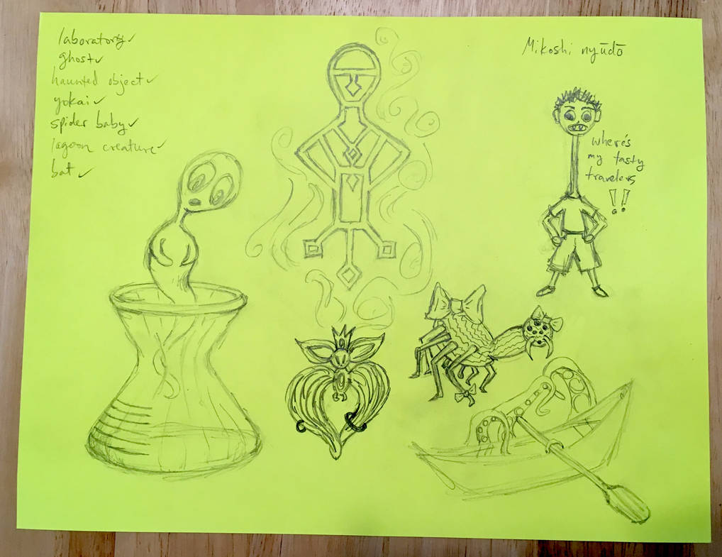 Drawlloween Days 5, 6, 7, 8, 9, 10, aaand 11 by bunniesfortea