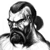 Tyr Portrait WiP by DAttila