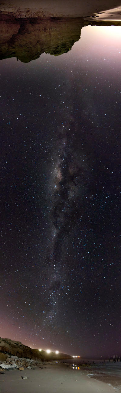 Milky Way Vertical Panorama - Port Willunga by sa-nick86