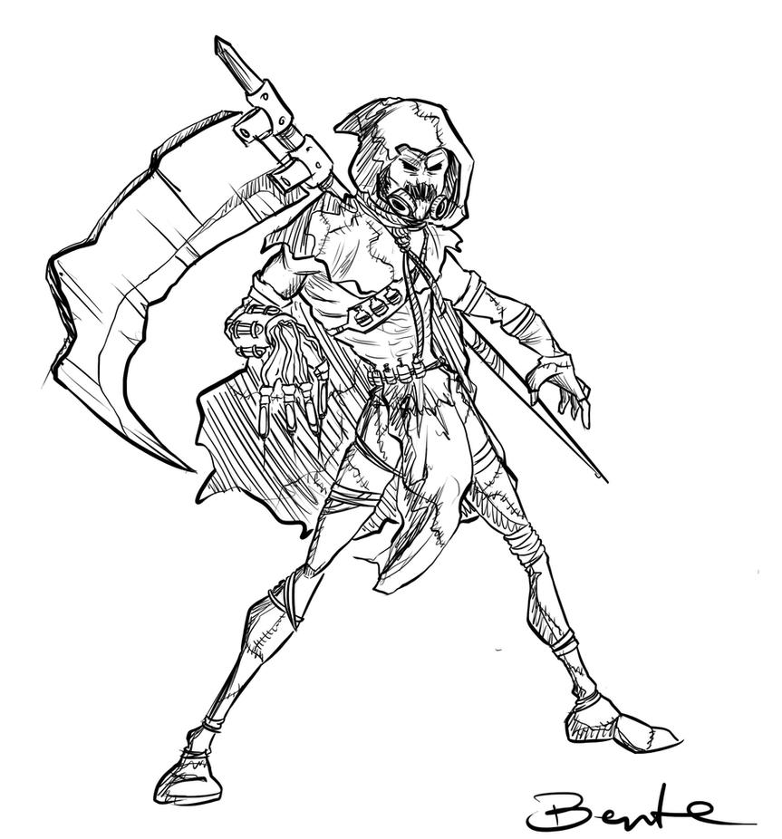 scarecrow sketch by bentelicious on deviantart Joker Coloring Pages  Batman Scarecrow Coloring Pages