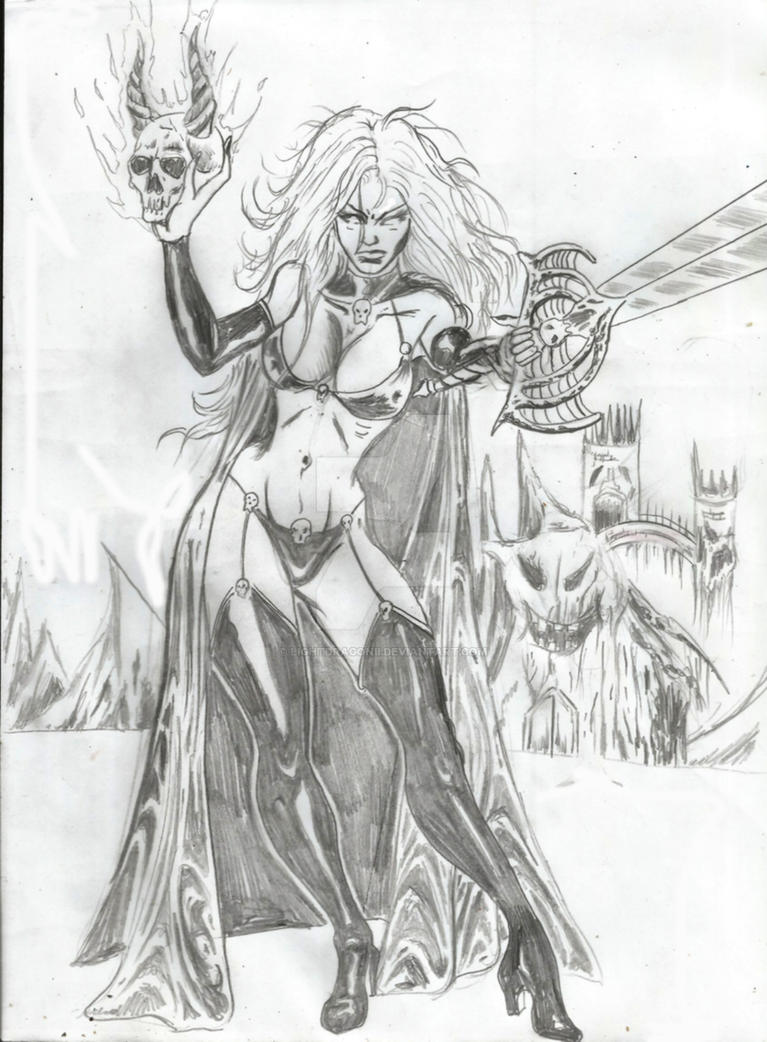 Lady Death1  redo by LightdragonII