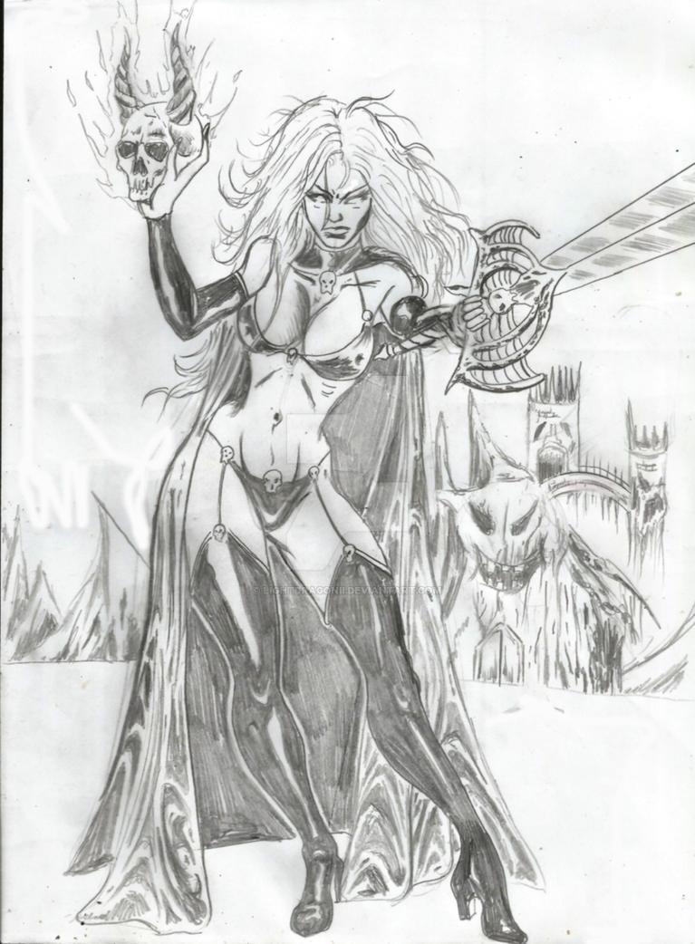 Lady Death1  redo by LightdragonII