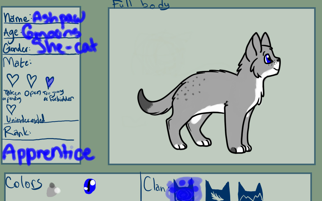 .:CoW:. Ashpaw by Frozen-Icicles