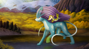 Suicune Ride (commission)