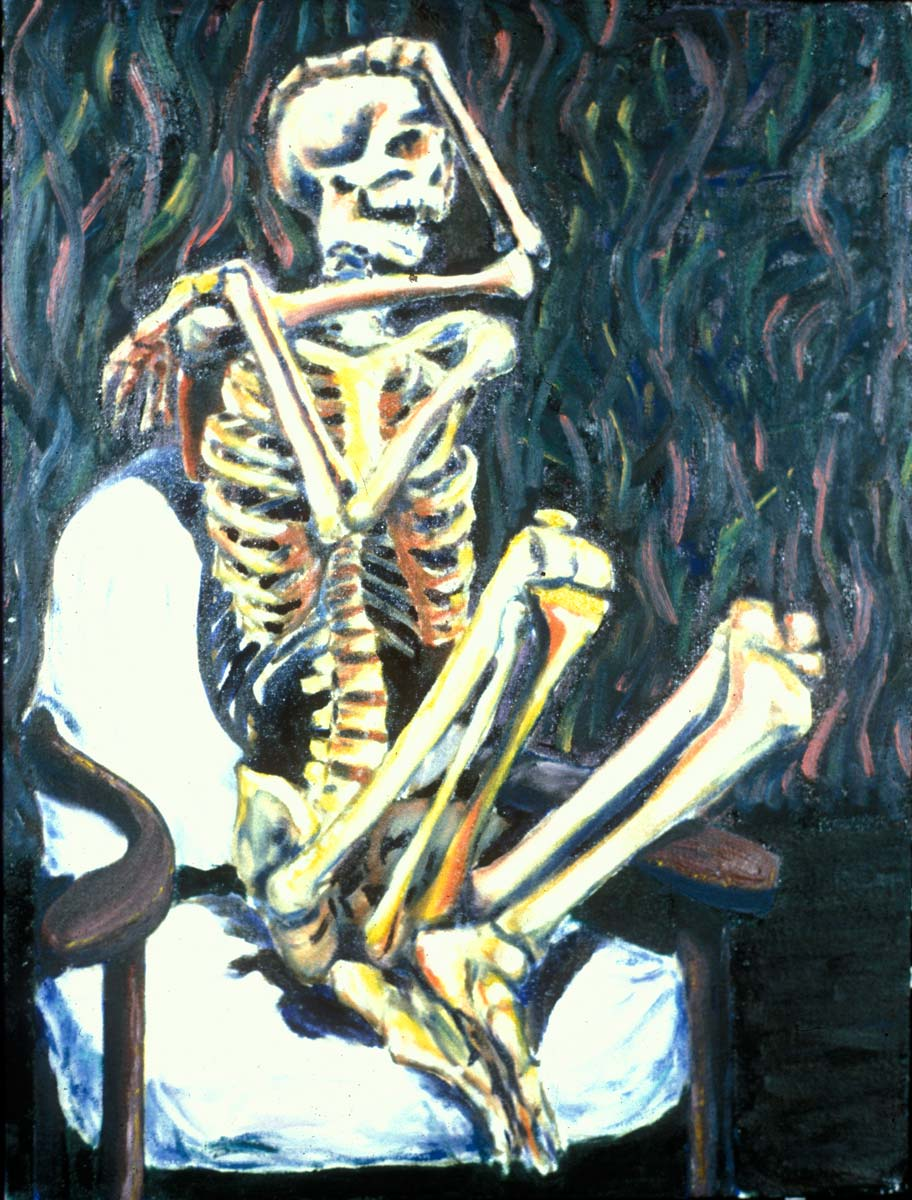 Skeleton Sitting In A Chair Sitting in a chair by