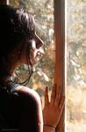 Fall behind the window