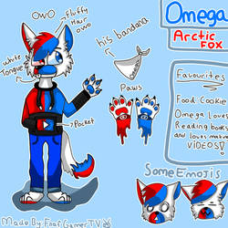 Omega The Fox Reference Sheet by FnafGamerTV