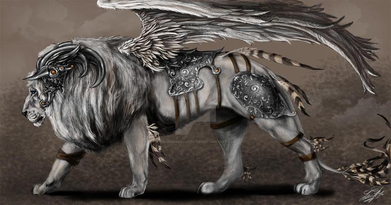 Gabriel's lion by BlackSnakeSister-art