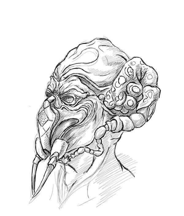 Plo Koon- sketch by BlackSnakeSister-art