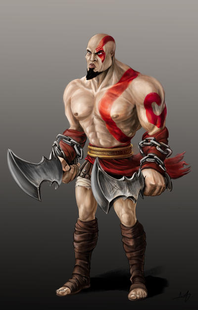 Character concept - Kratos by BlackSnakeSister-art