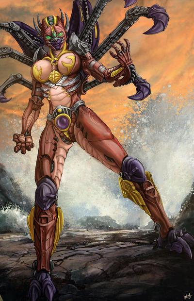 Rampage - female version by BlackSnakeSister-art