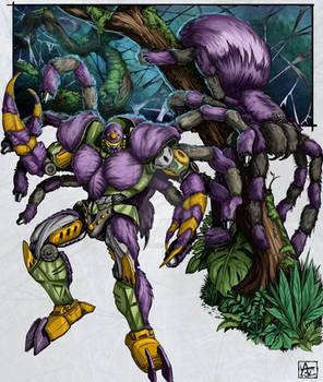 BW: Tarantulas Colored