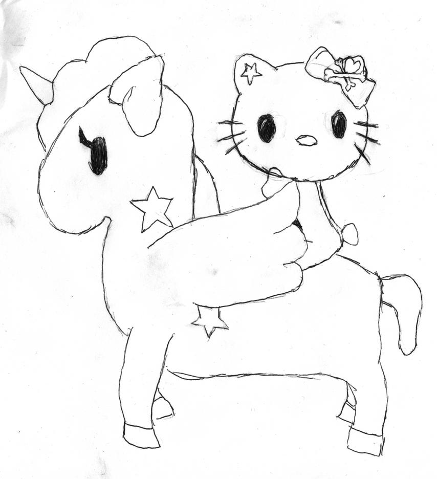 Hello kitty riding unicorn NC by Jimmywa on DeviantArt