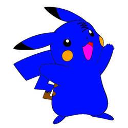 Blue colin pikachu