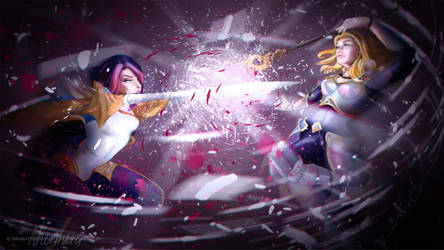 Fiora vs Lux by DaughterOfMetis