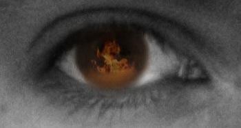 Eyeball Fire by Bleedmanian13