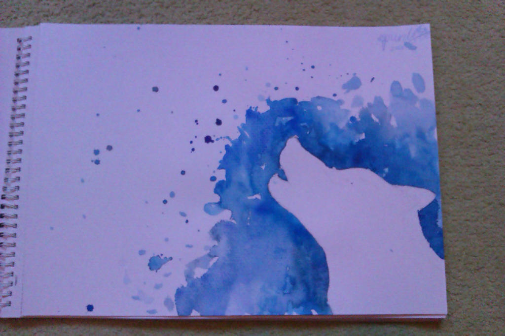 Splatter painting 1 wolf by cool a llama on deviantart for Cool paintings easy
