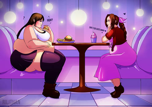 Dinner Date - Chubby Tifa and Aerith