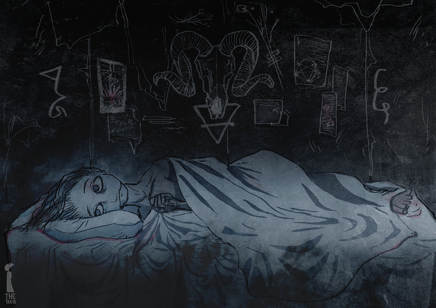 Sleeping alone in the Devil's Bed by RumourTheNoir