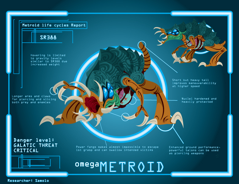Metroid Cycle: Omega Metroid by Samolo