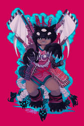 Samurai Neko Samicia and the demon Kitten by Samolo