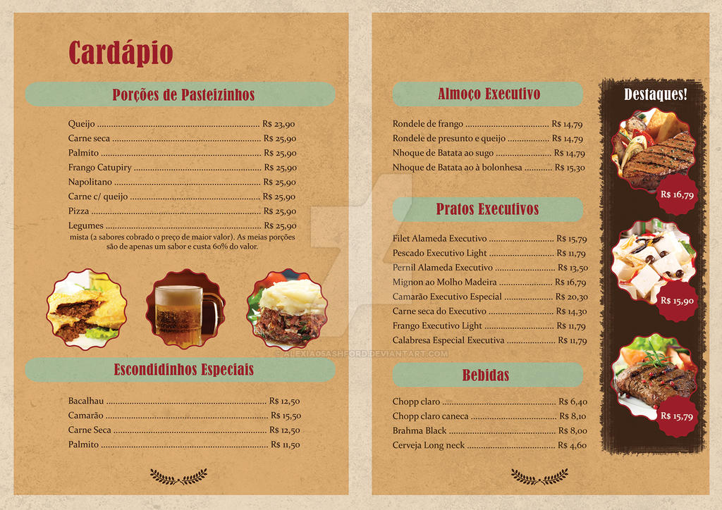 Cardapio de restaurante bar restaurant bar menu by for Photo de bar restaurant