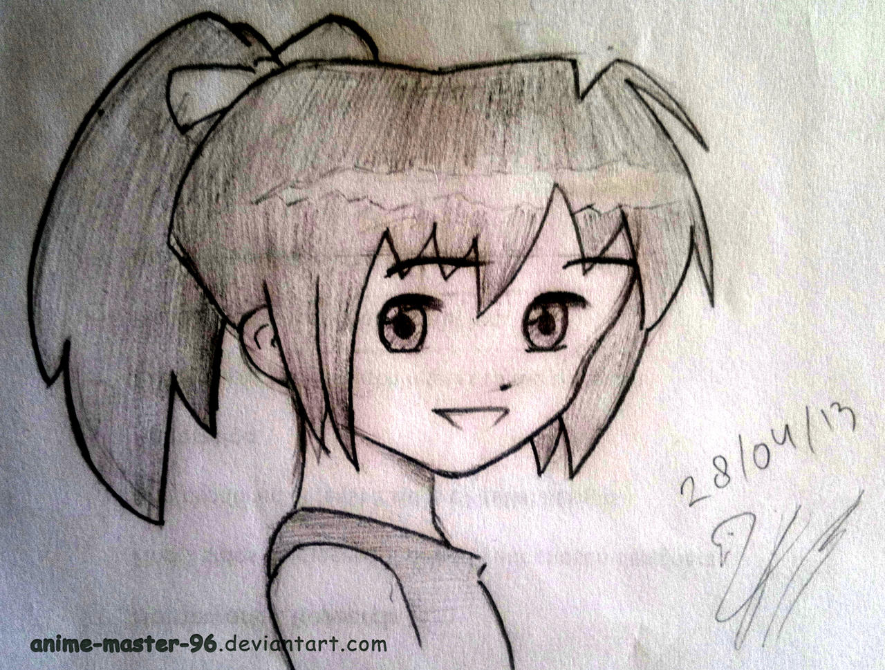 ... Second Anime drawing ever :D by anime-master-96