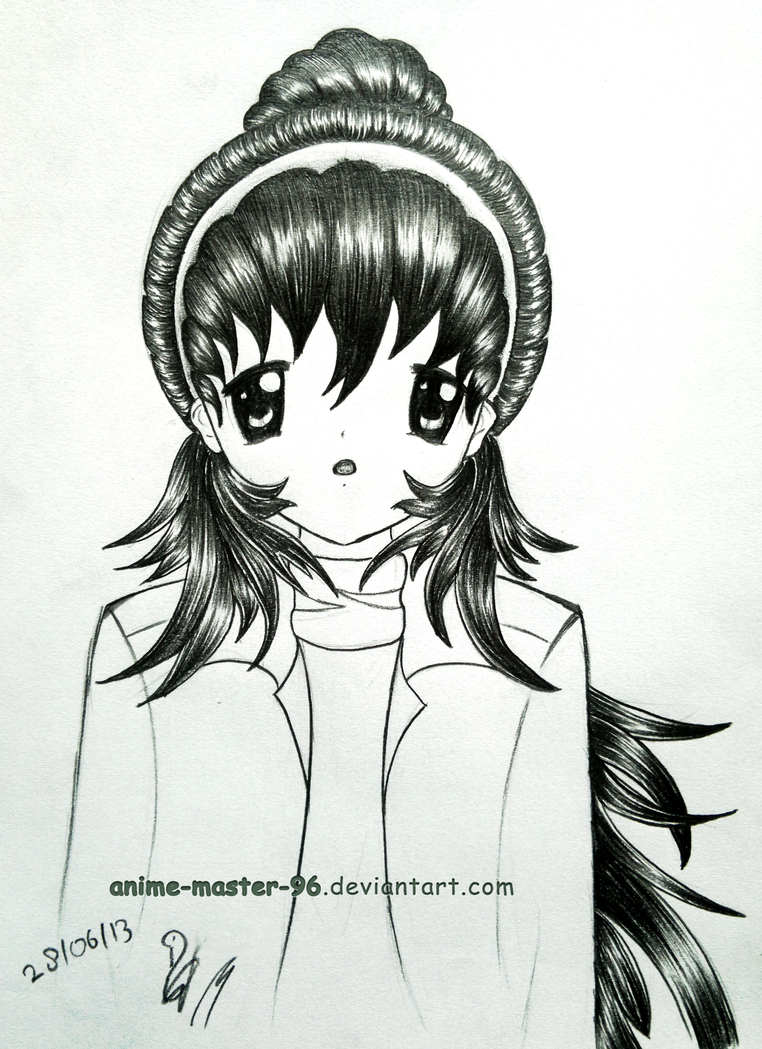 Hair Study From The Imagination 3 Front View By Anime Master 96