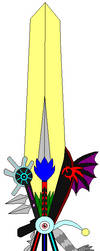 Chaos of Hope Keyblade... by Legends-Are-ETERNAL