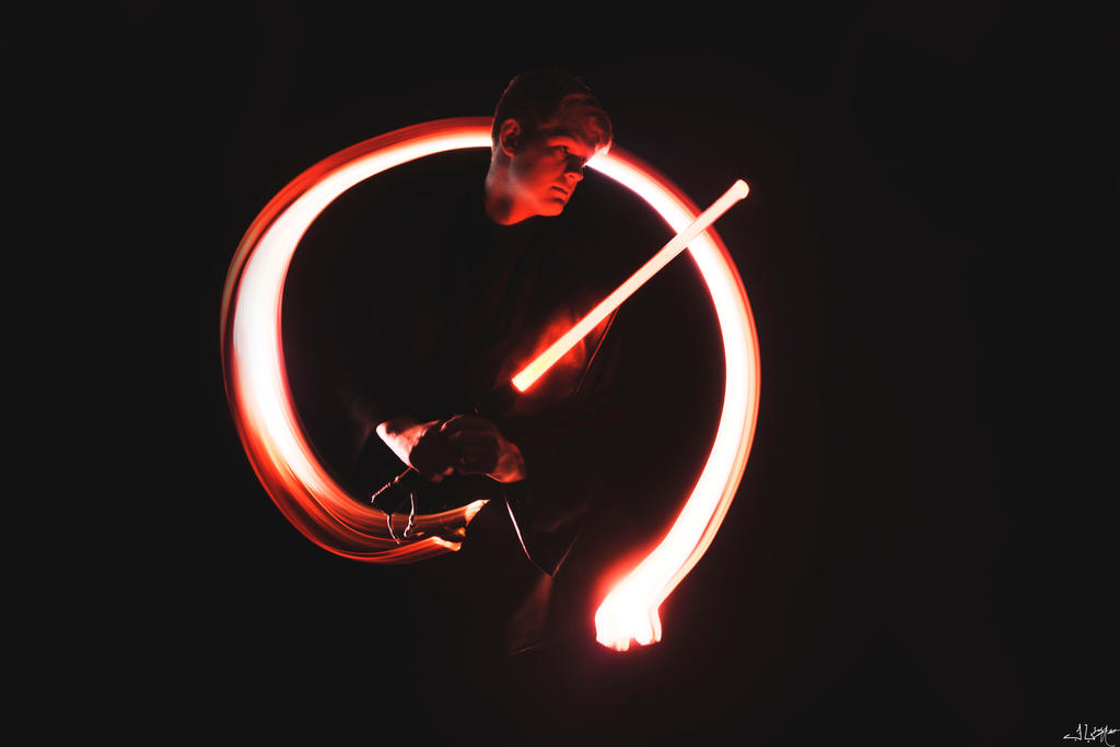 Sith Light Painting By AziboArtist