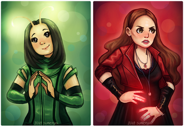 mantis and scarlet witch by sumenya