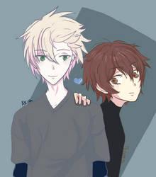 Akia and Tsama by cliea