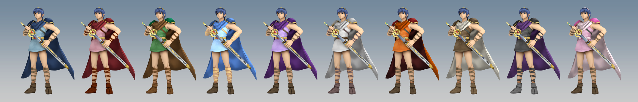 Smash 3C Alt Costume: Classic Marth (Colors)