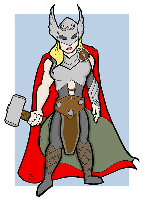 New Thor by hallopino
