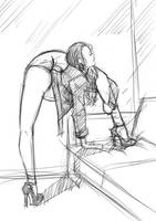 Contortion  Sketch by zhanyuedao123