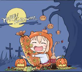 Halloween do the splits  girl