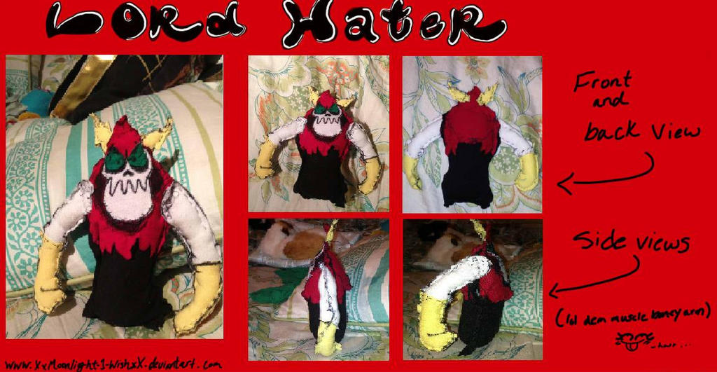 Lord Hater Plushie by XxMoonlight-1-WishxX on DeviantArt