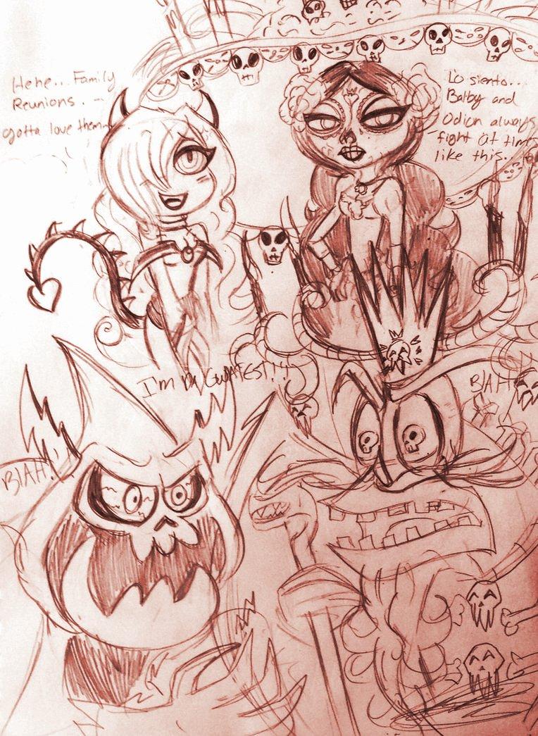 Cranky Spooky Skeletal Overlords by XxMoonlight-1-WishxX