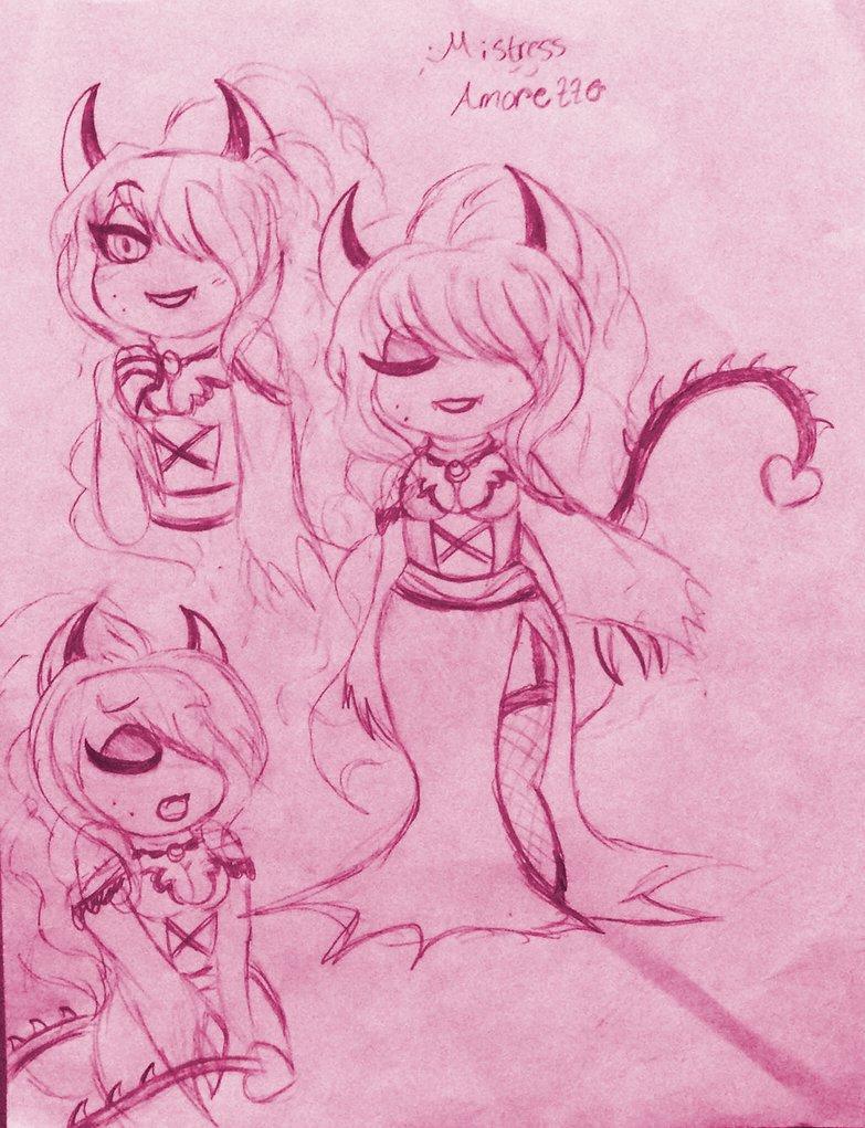 WoY: Mistress Amorette - Sketch by XxMoonlight-1-WishxX