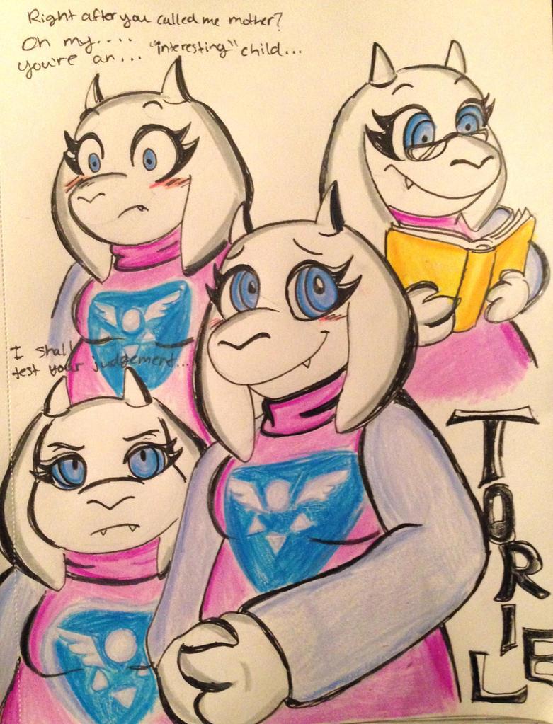 Undertale: Goat Mom Doodles by XxMoonlight-1-WishxX
