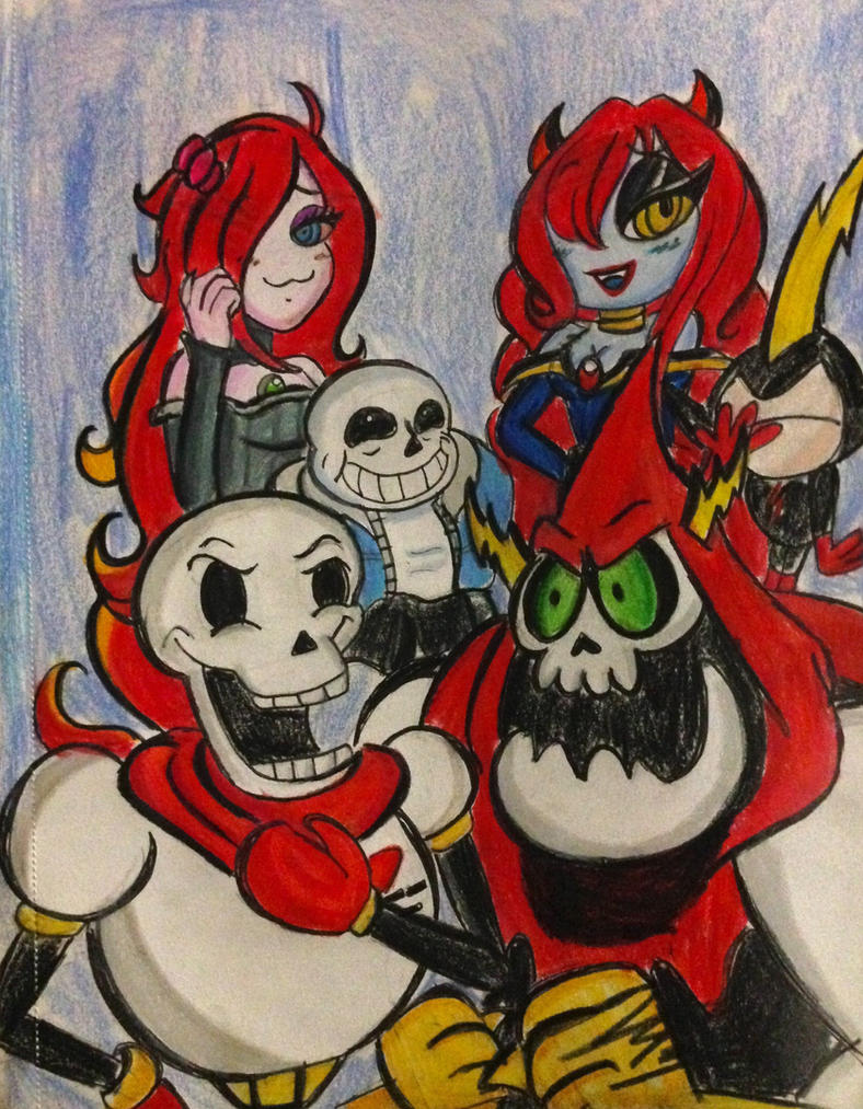Crossover: Redheads and Skelly Dorks by XxMoonlight-1-WishxX