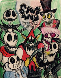 Crossover: The Skeleton Support by xLittle-Miss-Horrorx