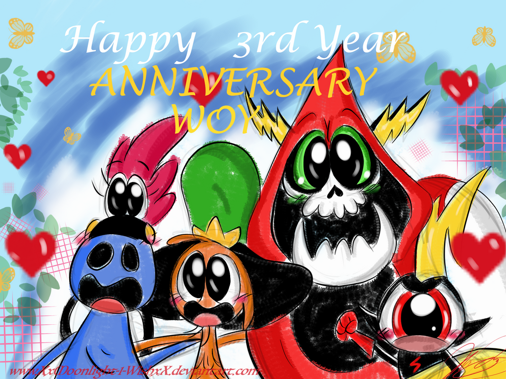 WoY: Happy Anniversary 2016 by XxMoonlight-1-WishxX