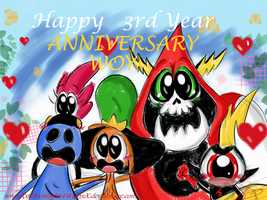 WoY: Happy Anniversary 2016 by xLittle-Miss-Horrorx