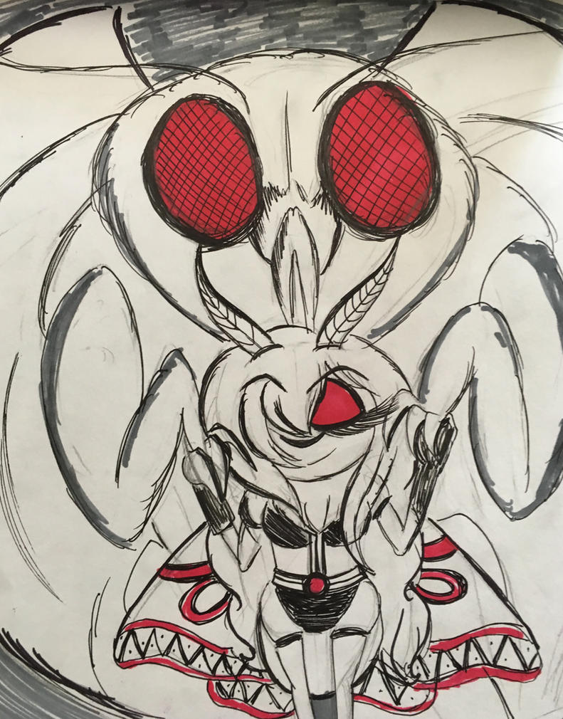Drawlloween Day 4: Mothman by XxMoonlight-1-WishxX