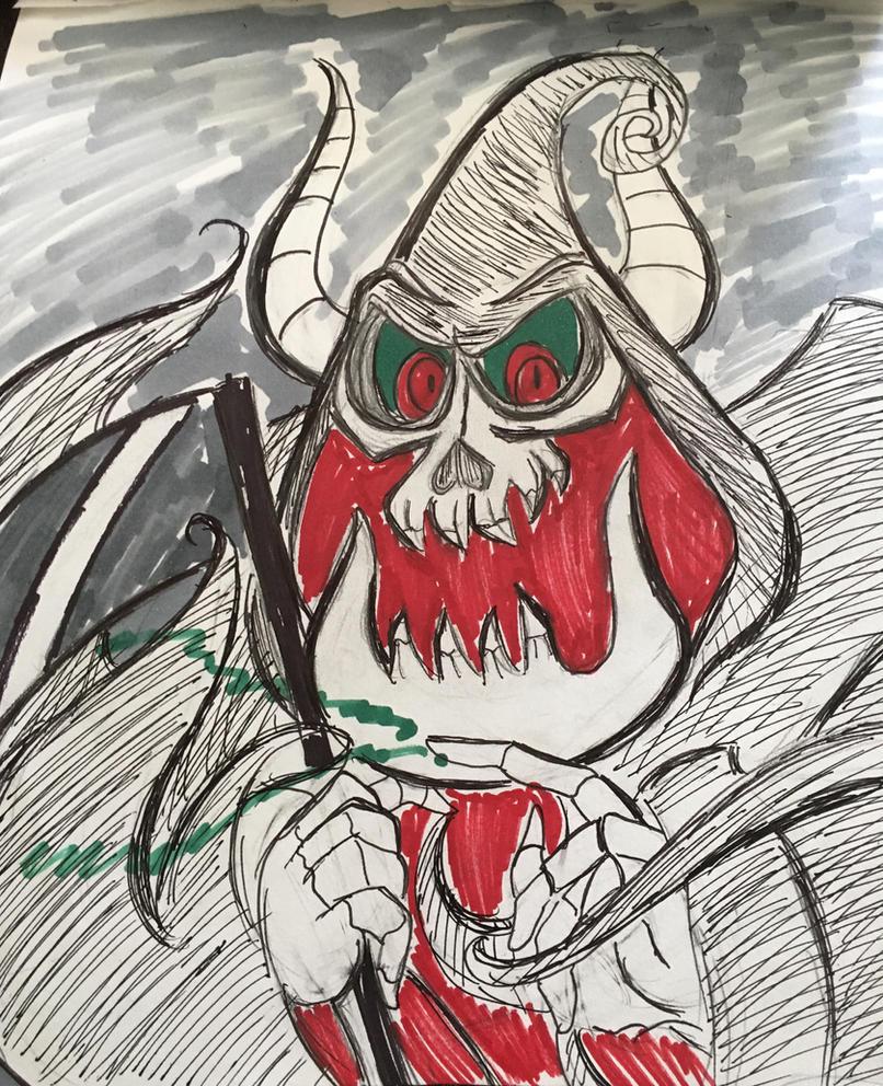 Drawlloween Day 5: Grim Reaper by XxMoonlight-1-WishxX