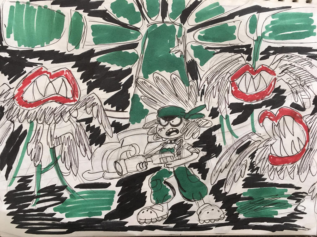 Drawlloween Day 8: Alien by XxMoonlight-1-WishxX